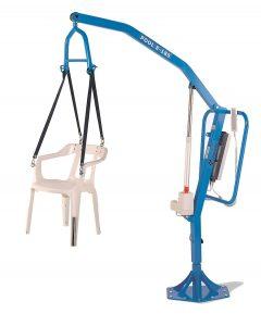 Grúa móvil con silla
