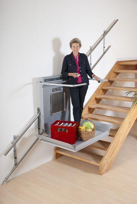 Plataforma elevadora para las escaleras